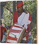 Bass Drummer Labadee Haiti Wood Print