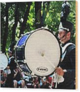 Bass Drums On Parade Wood Print