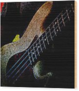 Bass Guitar Wood Print