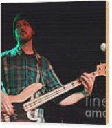 Bass Guitar Musician Wood Print