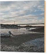 Bass Harbor At Low Tide Wood Print