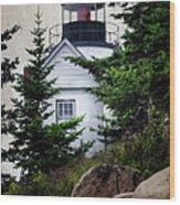 Bass Harbor Head Light Wood Print