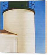Bass Harbor Head Lighthouse Maine Wood Print