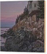Bass Head Lighthouse Sunrise Wood Print