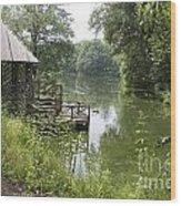 Bass Pond Biltmore Estate Wood Print