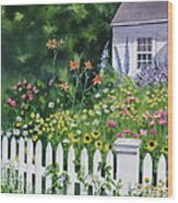 Bass River Cottage Wood Print