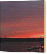 Bass River Sunrise Wood Print