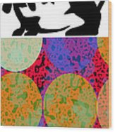 Basset Pop Wood Print