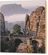 Bastei, Saxonian Switzerland National Wood Print