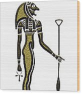 Bastet - Goddess Of Ancient Egypt Wood Print