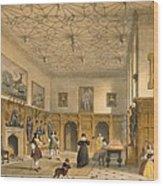 Bat Game In The Grand Hall, Parham Wood Print