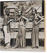 Batak Warriors In Indonesia 1870 Wood Print