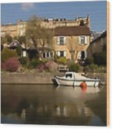 Bath Canalside Wood Print