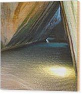 Bath Cave Wood Print