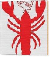 Bath Maine Lobster With Feelers Wood Print