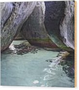 Bath Rocks Wood Print by    Michael Glenn