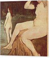 Bathers On Seine Wood Print