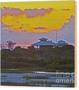 Bathouse Sunset Wood Print