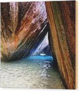 Baths In Virgin Gorda Wood Print