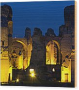 Baths Of Caracalla Wood Print