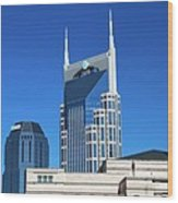 Batman Building And Nashville Skyline Wood Print