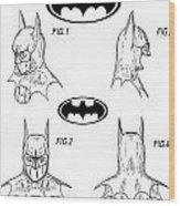 Batman Face Guard Wood Print