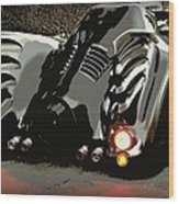 Batmobile 2 Wood Print by Cathy Smith