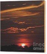 Baton Rouge Sizzling Sunday Sunset  Wood Print