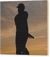 Batter At Dawn - Phillies Wood Print