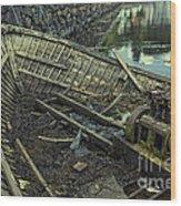 Battered Boat  Wood Print