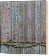 Battered Wooden Wall Wood Print