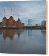 Battersea Power Plant. Wood Print