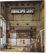 Battersea Power Station Interior Wood Print