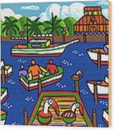 Battery Pier - Apalachicola Wood Print