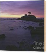 Battery Point Lighthouse At Sunset Wood Print