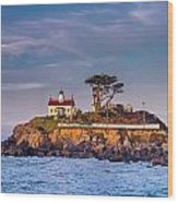 Battery Point Lighthouse Morning Wood Print