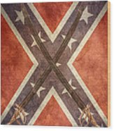 Battle Flag Civil War Confederate States Wood Print