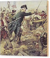 Battle Of Bennington Wood Print