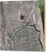 Battle Of Bound Brook - Revolutionary War Wood Print