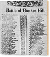 Battle Of Bunker Hill Wood Print
