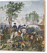 Battle Of Eutaw Springs Wood Print