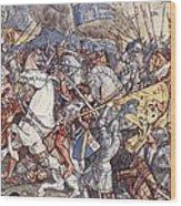 Battle Of Fornovo, Illustration Wood Print