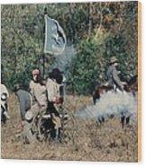Battle Of Franklin - 3 Wood Print