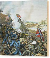 Battle Of Franklin Wood Print