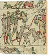 Battle Of Hastings The Battle Rages Wood Print