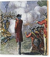 Battle Of Lexington Wood Print