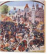 Battle Of Nevilles Cross 1346 Wood Print
