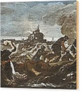 Battle Of Saint-quentin Wood Print