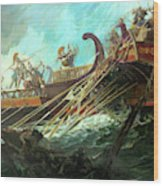 Battle Of Salamis, 480 Bce Wood Print