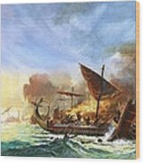 Battle Of Salamis Wood Print